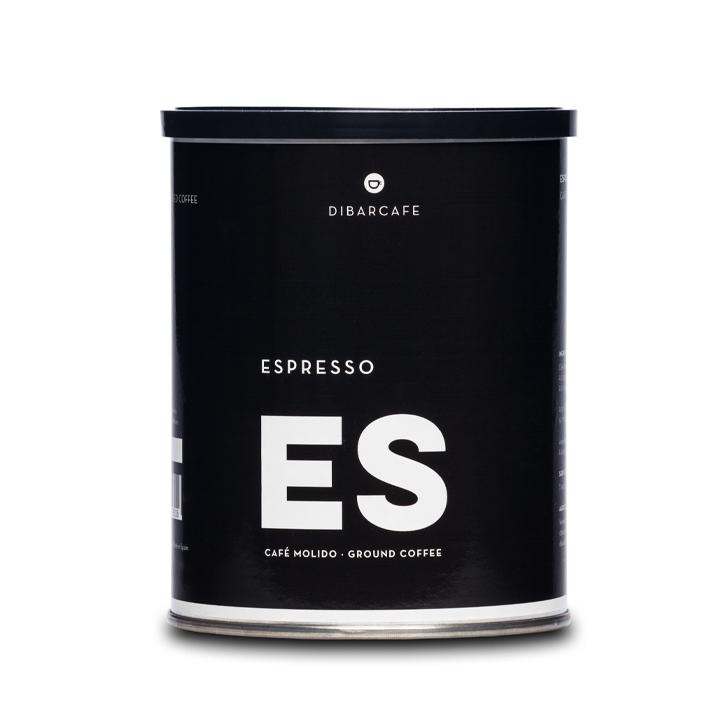 Dibarcafe blik 250 gram gemalen koffie espresso